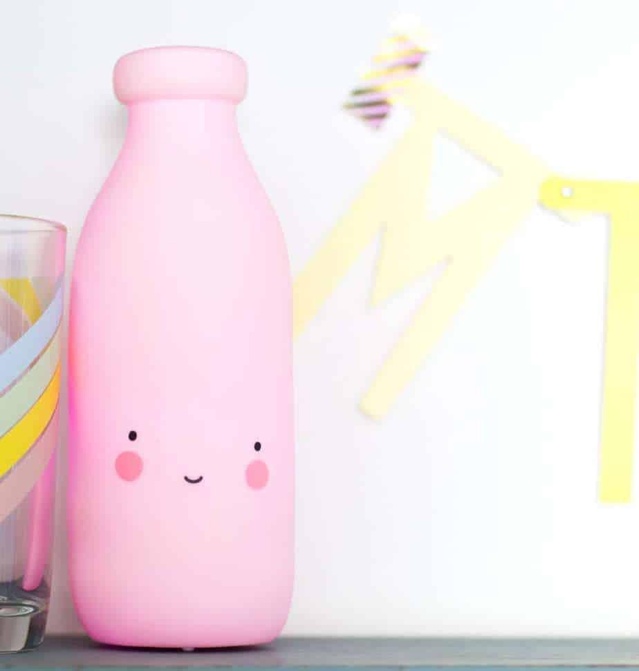 Milchflaschen-Nachtlicht/pink