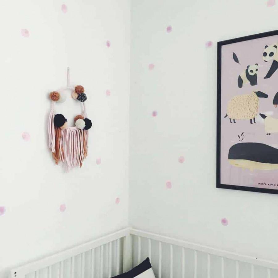 Aquarell Dots rosa