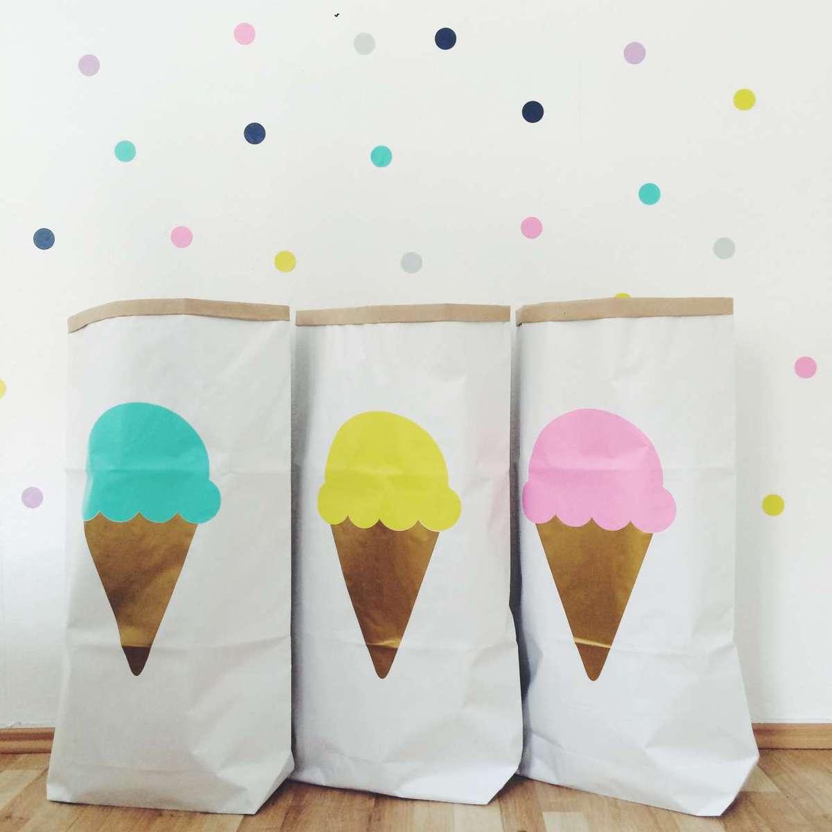 Papiersack Eis/mint