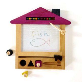 Kiko +& gg* Zaubertafel aus Holz, Pink