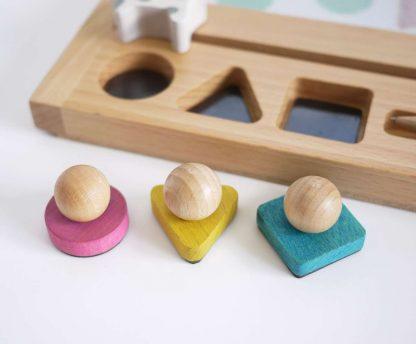 Kiko +& gg* Zaubertafel aus Holz, Gelb