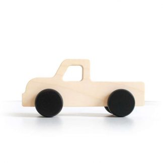 Auto Truck aus Holz Briki Vroom Vroom - schwarz