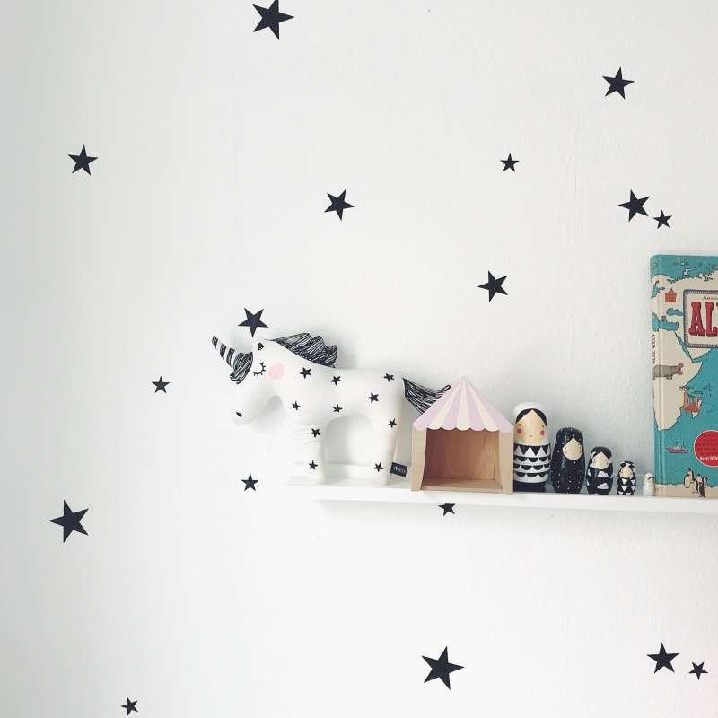 Sternen Wandsticker - schwarz
