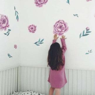 Blumen Wandsticker