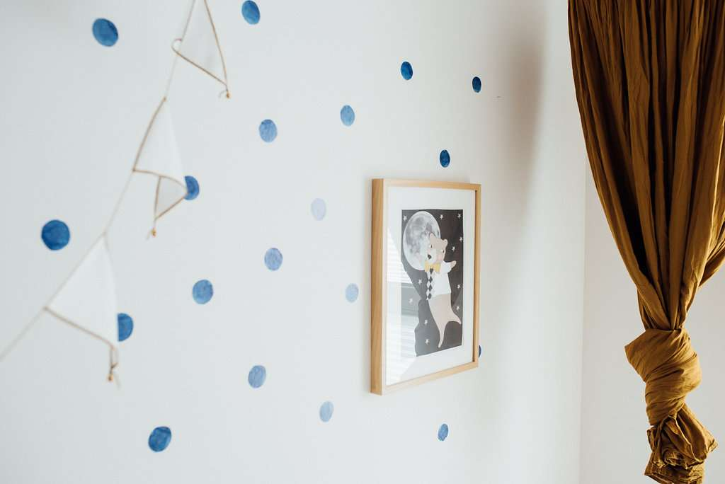 Aquarell Dots blau