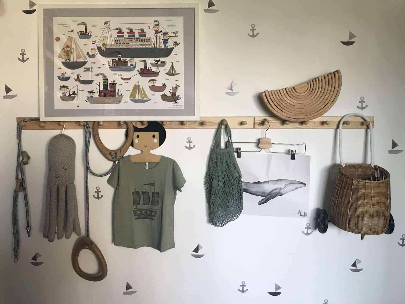 Schiffchen Wandsticker