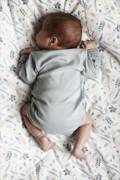 """Cam Cam Baby & Juniorbettwäsche """"Pressed leaves"""" - Blau"""