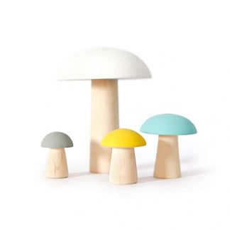 Briki Vroom Vroom - Pilze aus Holz - bunt