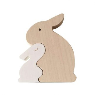 Briki Vroom Vroom - Puzzle aus Holz -Hasen