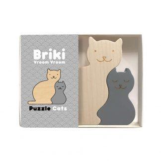 Briki Vroom Vroom - Puzzle aus Holz -Katze