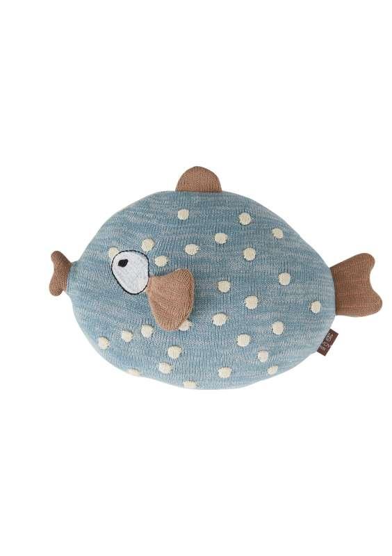 "OYOY Kissen Fisch ""Little Finn "" aus Bio-Baumwoll-Strick"