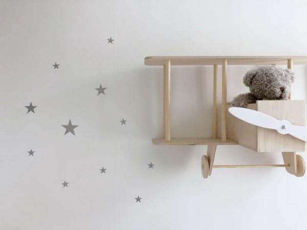 Sternen Wandsticker - silber