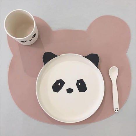 Liewood Tischset aus Silikon Bear rose