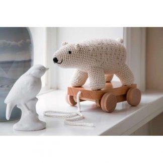 Sebra Häkel-Nachziehtier Eisbär