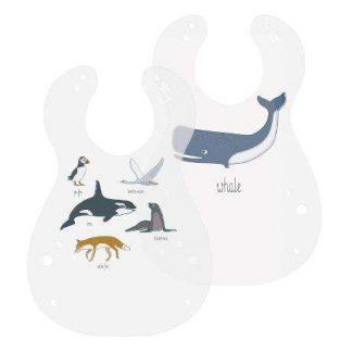Kunststoff Lätzchen, 2er set, Arctic animals