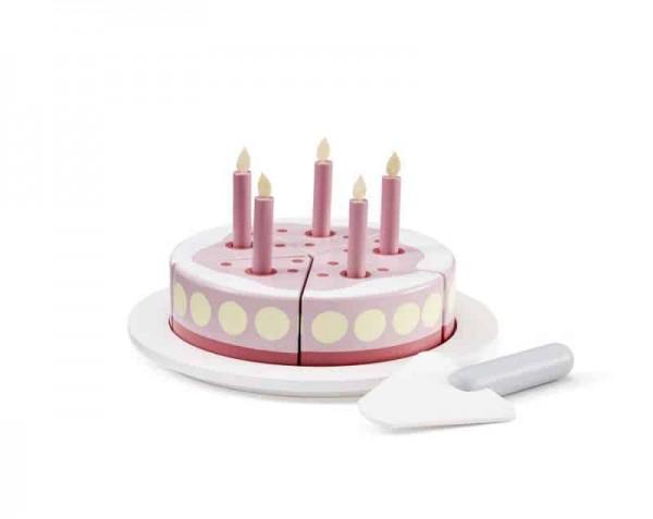 Kids Concept Geburtstagskuchen mit Servierplatte- Rosa