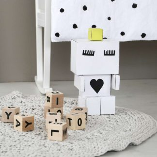 Ooh noo Alphabet blocks - Schwarz
