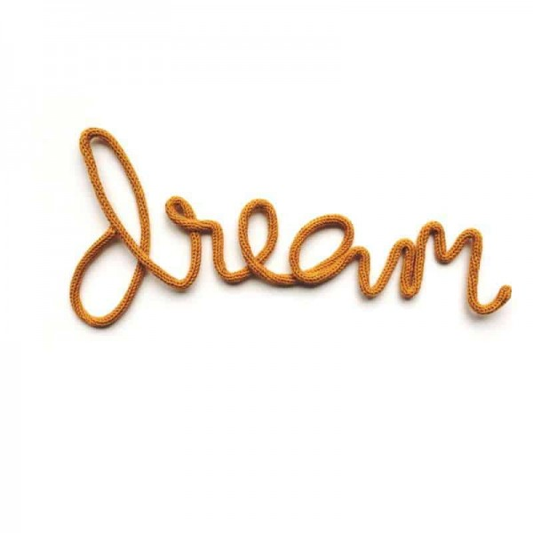 "Lagomworld Wand-Deko-Wort ""Dream"" - Senf"
