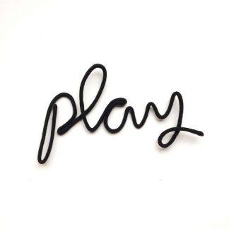 "Lagomworld Wand-Deko-Wort""Play""- Schwarz"