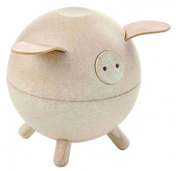 Plan Toys Spardose Schwein - Natur