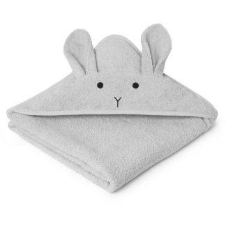"""Liewood Kapuzenhandtuch """"Augusta Rabbit Grey"""""""