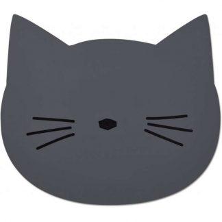 Liewood Tischset aus Silikon Katze grau