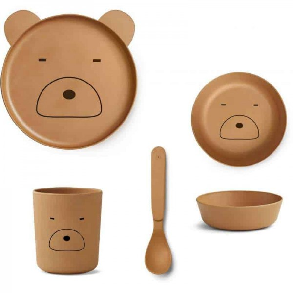 "Liewood ""MR. Bear"" Bambus Set Mustard"