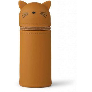 "Liewood ""Vitus"" Federmäppchen Katze - Senfgelb"
