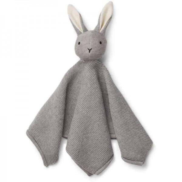 """Liewood Hasen- Kuscheltuch """"Milo Rabbit Grey """""""