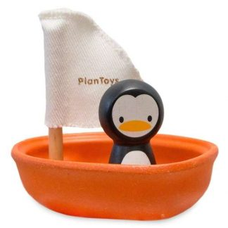 Plan Toys Badespielzeug Segelbot Pinguin