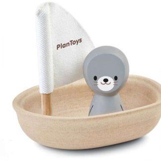 Plan Toys Badespielzeug Segelboot Robbe