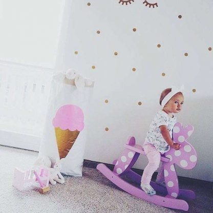 Papiersack Eis/rosa