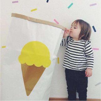 Papiersack Eis/gelb