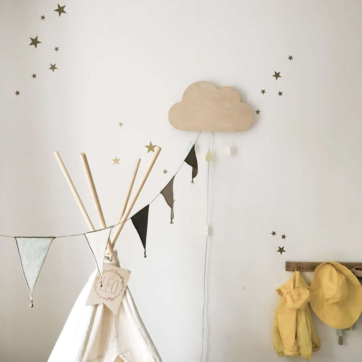 Sternen Wandsticker - gold