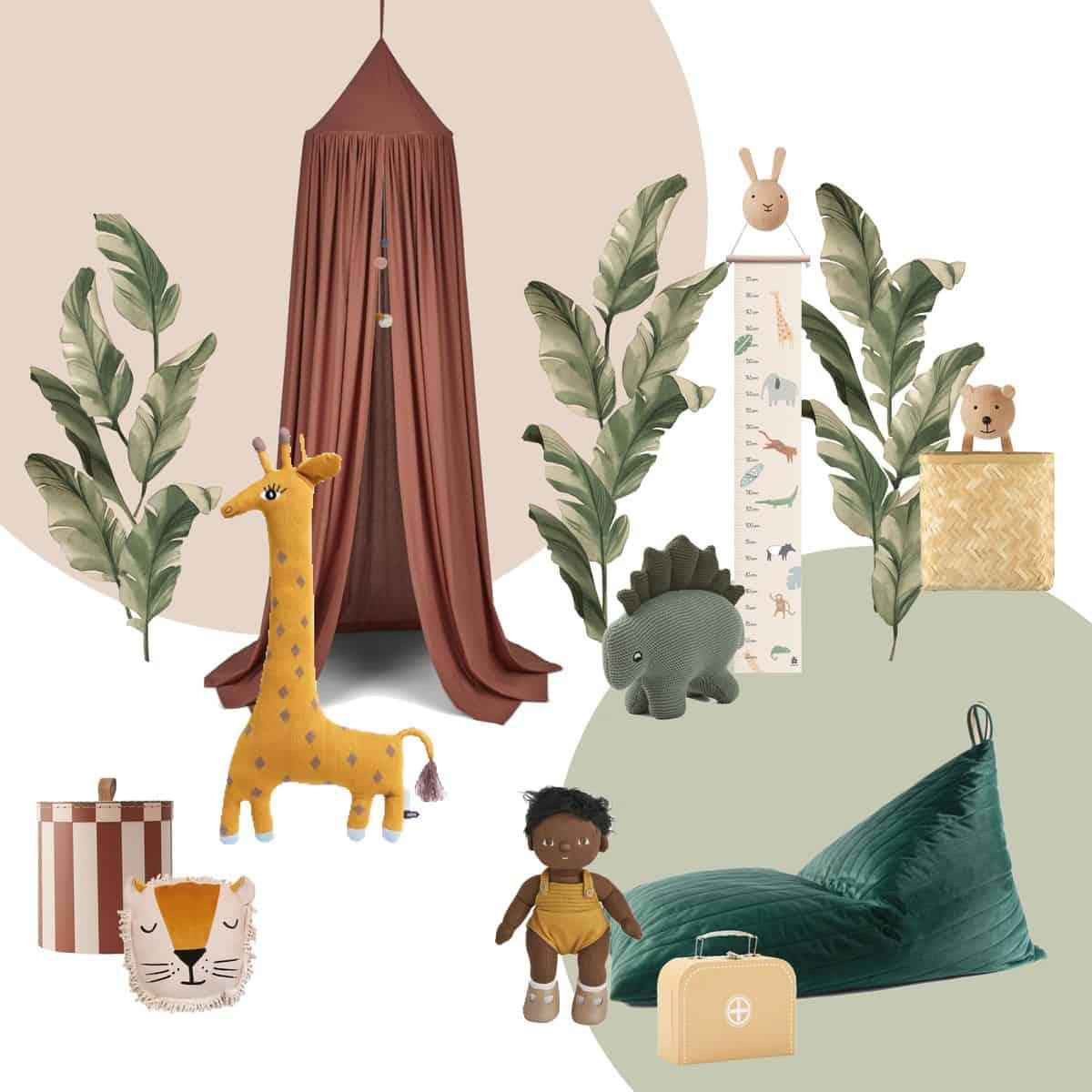 Safari & Dschungel Kinderzimmer